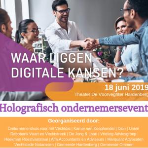 Uitnodiging Holografisch ondernemersvent